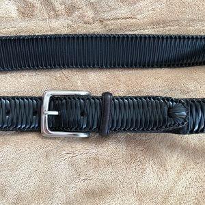 """tommy Bahama 38"""" black leather belt"""